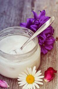 coconut oil in jar