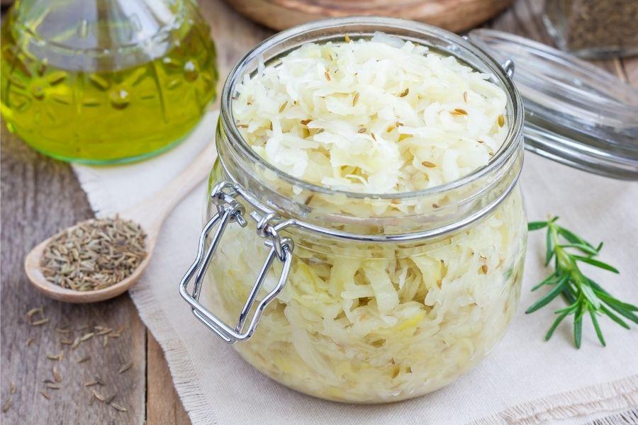 sauerkraut in a jar
