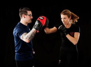 Boxing and sparring with a partner