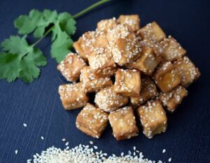 tofu with sesame seeds