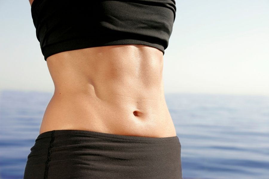 abdominal muscles woman
