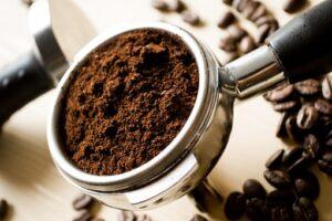 coffee grounds scrub