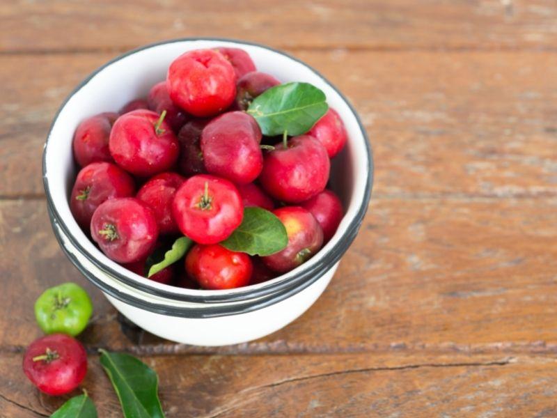 bowl of acerola berries