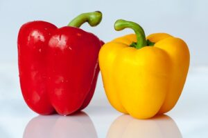 red and yellow fresh bell peppers