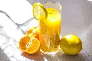 freshly squeezed orange and lemon juice