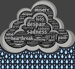 anxiety and depression raincloud