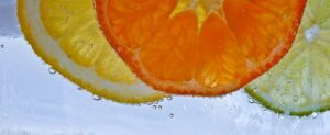 lemon, orange, and lime slices