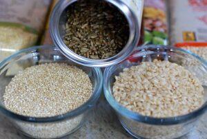 brown rice and wholegrains