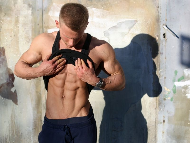 toned abdominal muscles