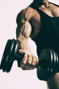 man with dumbell