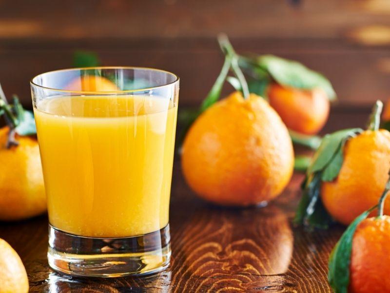 fresh;y squeezed orange juice