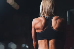 woman with muscles