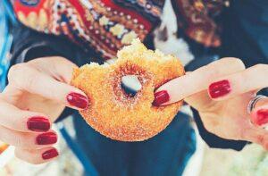 half eaten doughnut