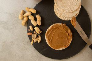 peanut butter and rice crackers