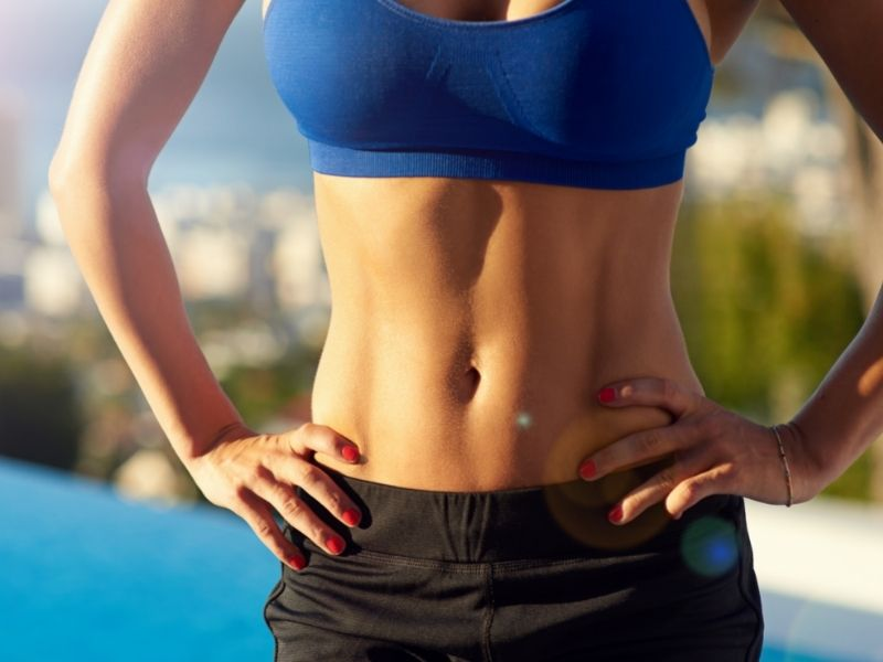 toned stomach muscles