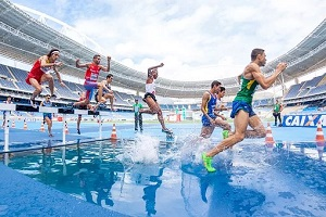 athletes at olympics