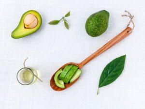 halved and sliced fresh avocado
