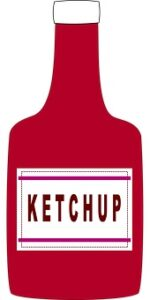 bottle of tomato ketchup