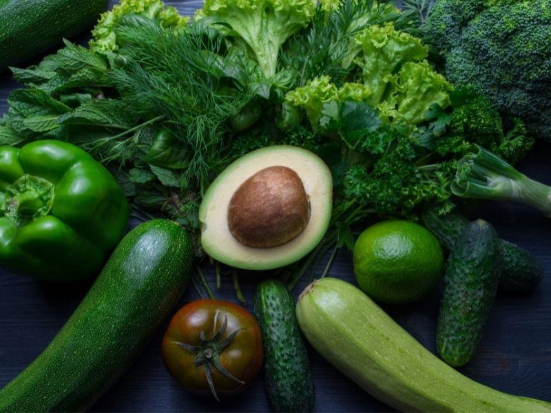 avocado and vegetables