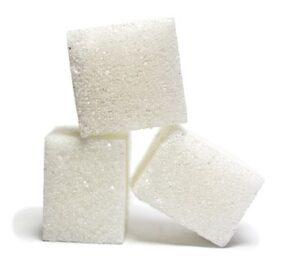 white cane sugar cubes