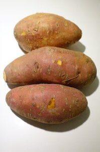 whole sweet potatoes in skin