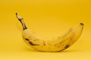 ripe banana in skin