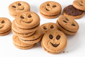 cookies with smiley faces