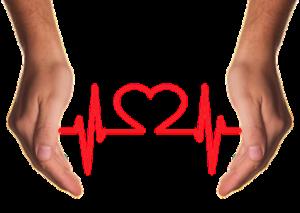 heart rate between two hands