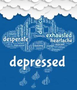 depression under a dark cloud