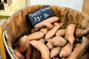 sweet potatoes are a low GI calcium rich food