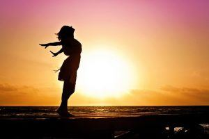exhilaration at sunset