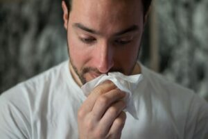 man with influenza