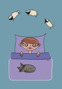 lying in bed counting sheep