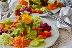 plate of raw salad