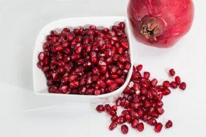 bowl of pomegranate jewels