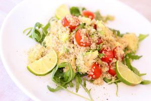 cooked white quinoa
