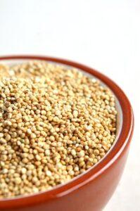 raw white quinoa