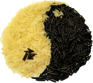 white and black rice