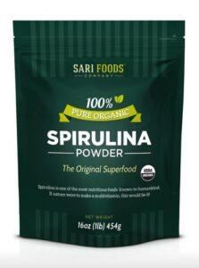 100% organic spirulina powder