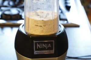 oat flour in blender