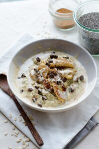 sultana and banana porridge