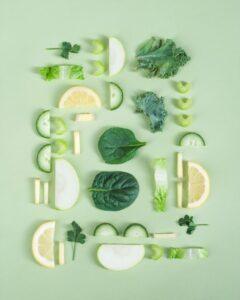 raw green vegetables