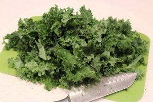 kale on chopping board