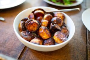 roast potatoes in bowl