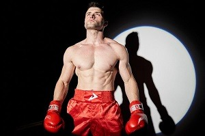 professional boxer in ring
