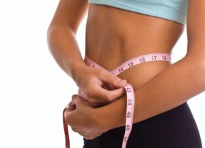 tape measure around waist