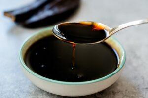 blackstrap molasses in bowl