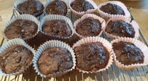 muffins on wire wrack