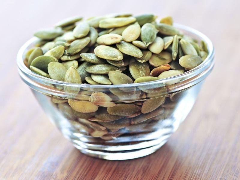 bowl of pumpkin seeds