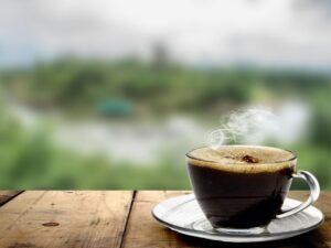 cup black coffee